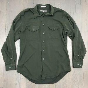 Perry Ellis Pocket Long Sleeve Button Down Shirt